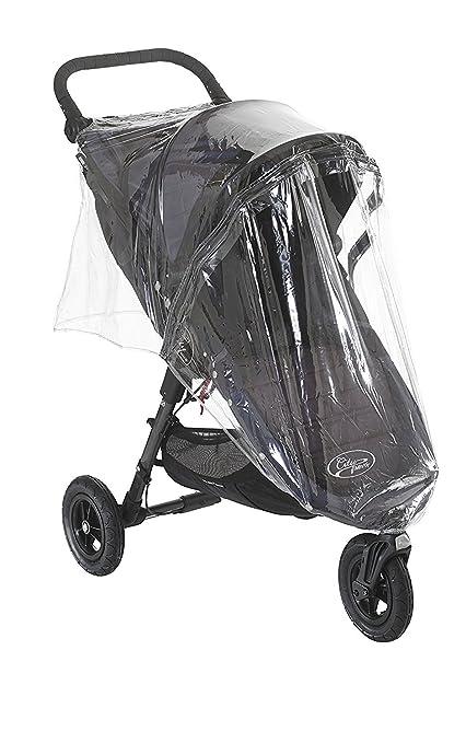 Protector de lluvia con cremallera para cochecito City Mini Single de la marca Baby Jogger transparente