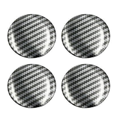 4Pcs Silver Tone Aluminium Alloy 45mm Dia Car Wheel Center Hub Cap Sticker