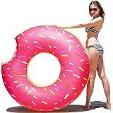 Samione Donut anillo de natación inflable, Flotador Gigante Buñuelo Piscina, Verano natación anillos, Agua Pool Float Juguetes inflables para adultos y niños, de natación playa o piscina baño juguete