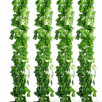 Amazon cewor 36pcs 236 feet artificial ivy fake greenery vine cewor 36pcs 236 feet artificial ivy fake greenery vine leaves for home wedding garden junglespirit Gallery