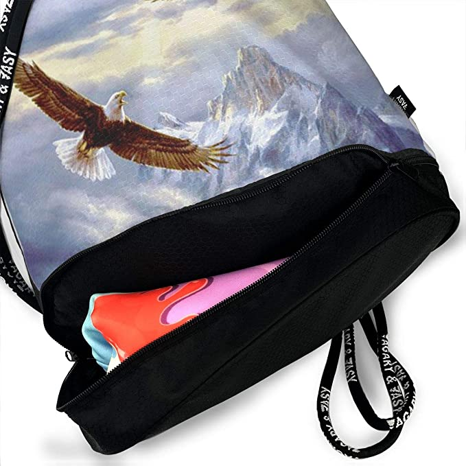 6915a48e5248 Amazon.com: ELKFOREST Two Eagle Draw String Bags Shoulder Cinch ...