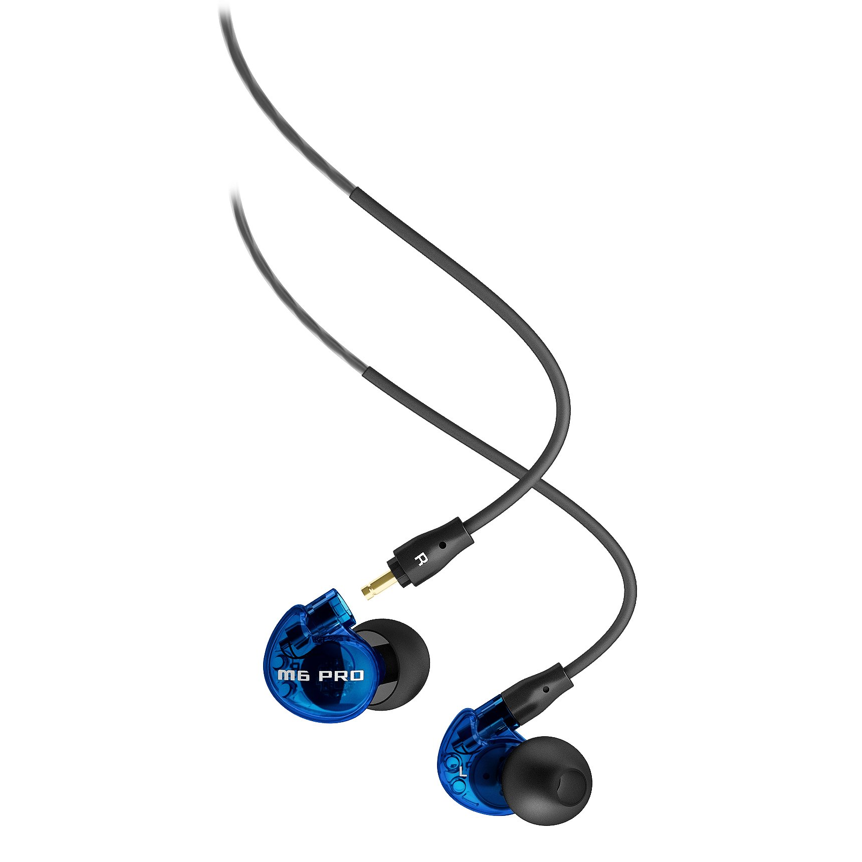 MEE Audio M6 PRO Noise-Isolating Limited Edition Blue In-Ear Monitors w/Detachable Cables by MEE audio
