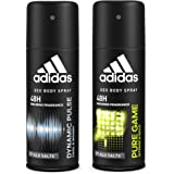 Adidas Dynamic Pulse & Pure Game Deodorant Body Spray Combo For Men, 150ml (Pack Of 2)