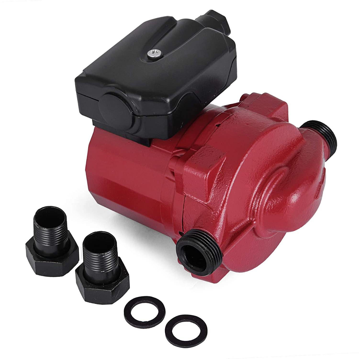 """Happybuy 3/4"""" 110V Hot Water Circulation Pump 9.5 GPM 3-Speed Hot Water Circulating Pump RS15-6 Red Water Circulation Pump for Solar Heater Systems Mophorn"""