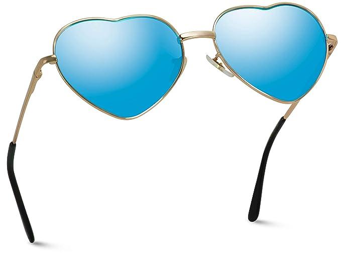 Amazon.com: Gafas de sol para mujer con marco de metal en ...