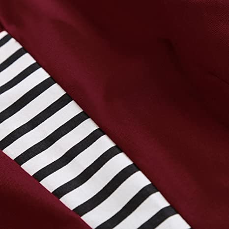 124837967752f5 iShine Spleiß Kleid Damen Knielang Kurzarm 50s Rockabilly Kleid mit Streifen  Marine Kleid Swing Faltenrock Partykleid Cocktailkleid: Amazon.de:  Bekleidung