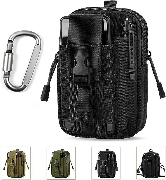 Sports Edc Pouch Belt Waist Bag Tactical Holster 1pc Tactical Flashlight Bag LR