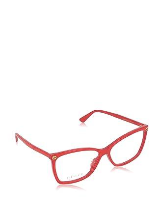 Amazon.com: Gucci GG0025O Optical Frame 004 Red 56 mm: Clothing