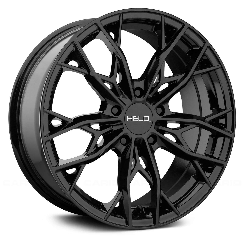 Helo HE907 17x7 5x114.3 +38mm Gloss Black Wheel Rim