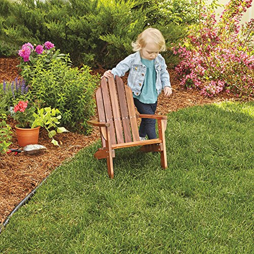 Maxim Child's Adirondack Chair. Kids Outdoor Wood Patio Furniture for Backyard, Lawn & Deck