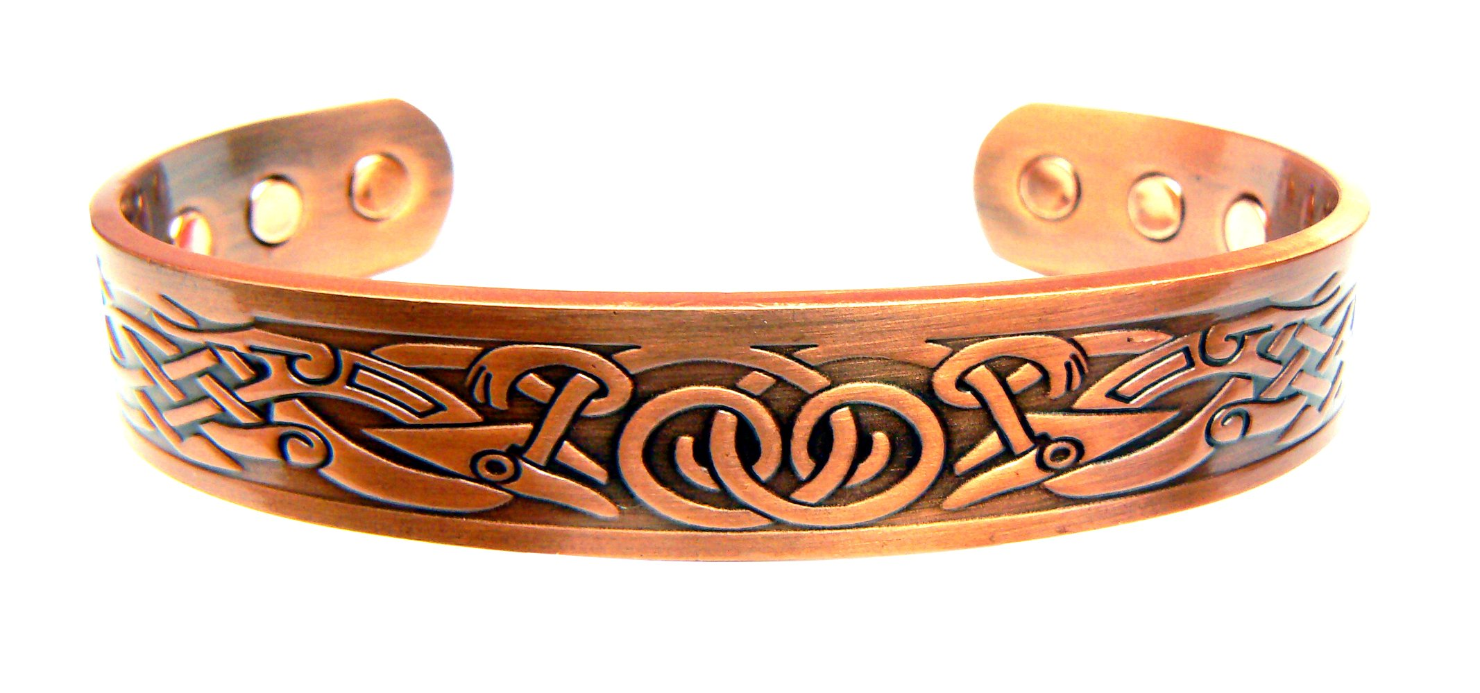 Magnetic Copper Arthritis Therapy Bracelet - Traditional Celtic Design with 6 Magnets to Relieve Arthritis for Men or Women by Chain-Relief®
