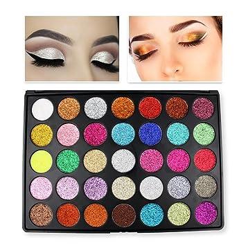 Amazon.com   Unpara 35 Color Eye Shadow Glitter Shine Powder Makeup Cosmetic  Shimmer Matte Eyesbadow Palette   Beauty 3ee4e0cd2758