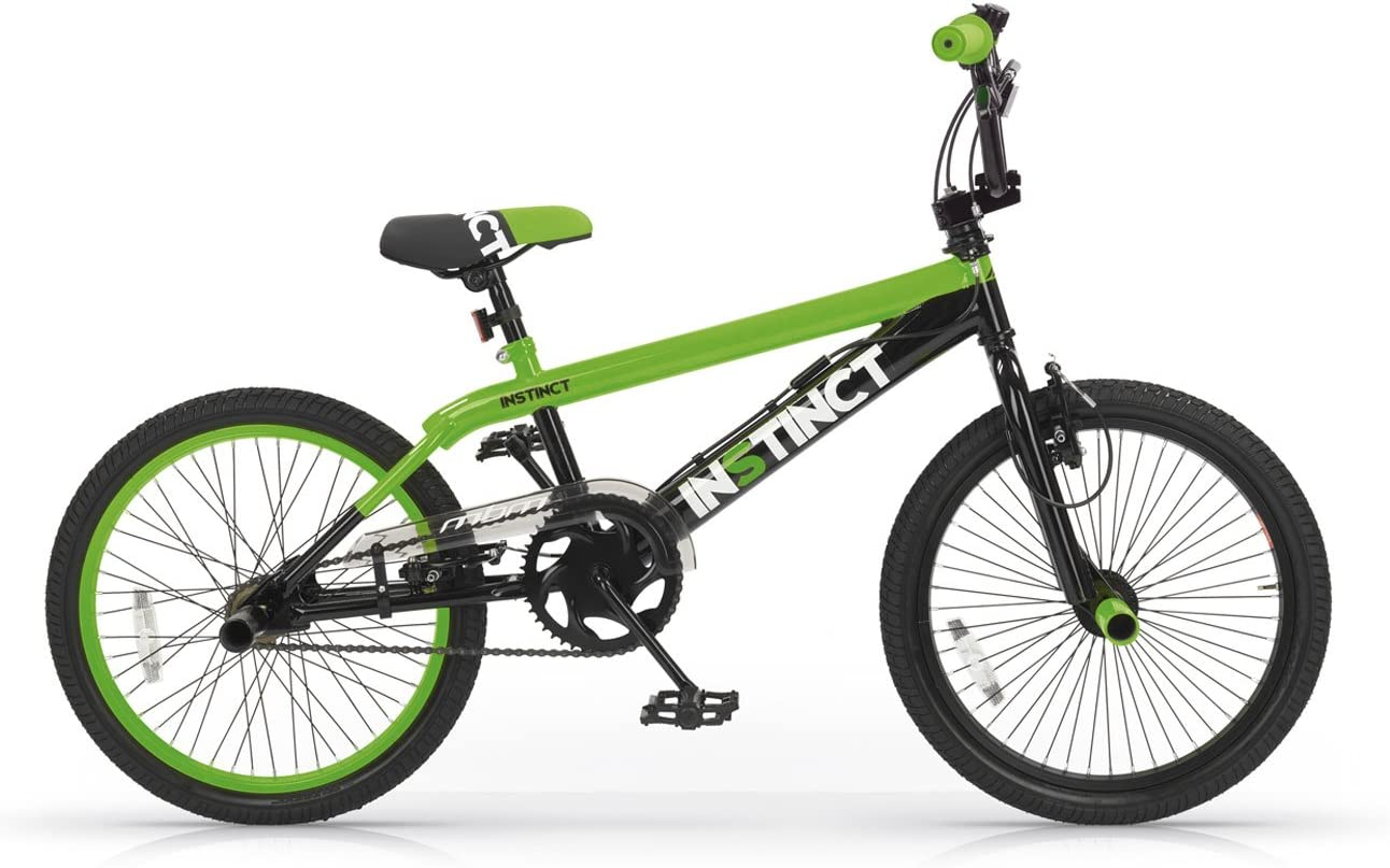 MBM BMX Instinct - Bicicleta de freestyle unisex para niños, Verde con casco, Telaio 28 cm: Amazon.es: Deportes y aire libre