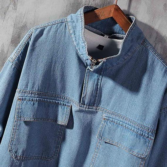 Suéter de Mezclilla para Hombre, de la Marca NDGDA: Amazon.es ...
