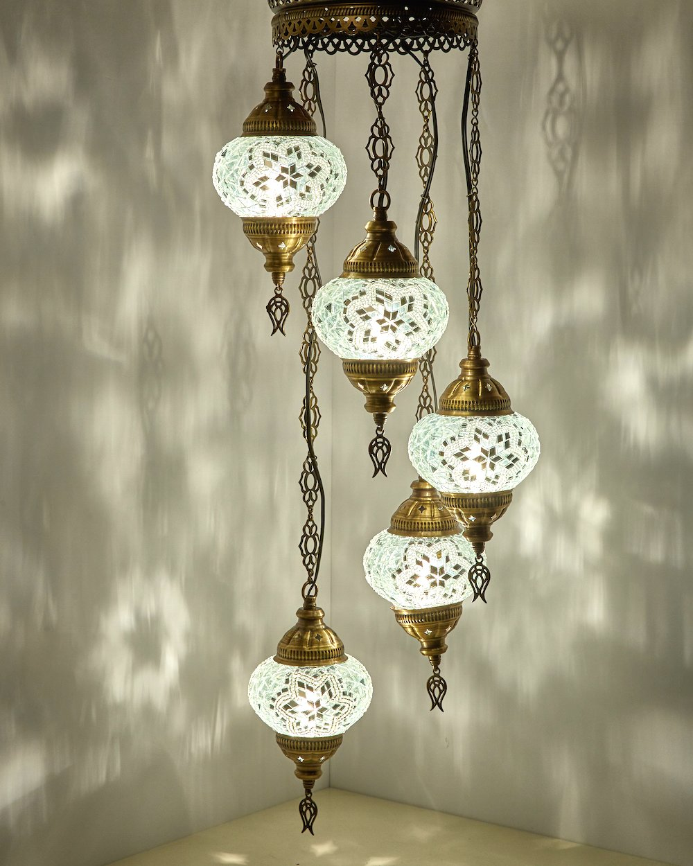 Amazon com turkish moroccan mosaic glass chandelier lights hanging ceiling lamps home kitchen