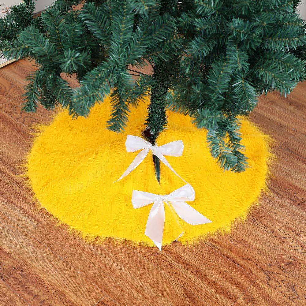 Home Decor,Home Decorations for Living Room 78cm Christmas Plush Long Haired Christmas Tree Skirt Christmas Tree Skirt Decor