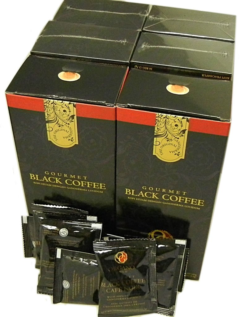 5 Box of Organo Gold Gourmet Black Coffee 100% Certified Ganoderma Extract Sealed by Organo Gold Garden-Outdoor