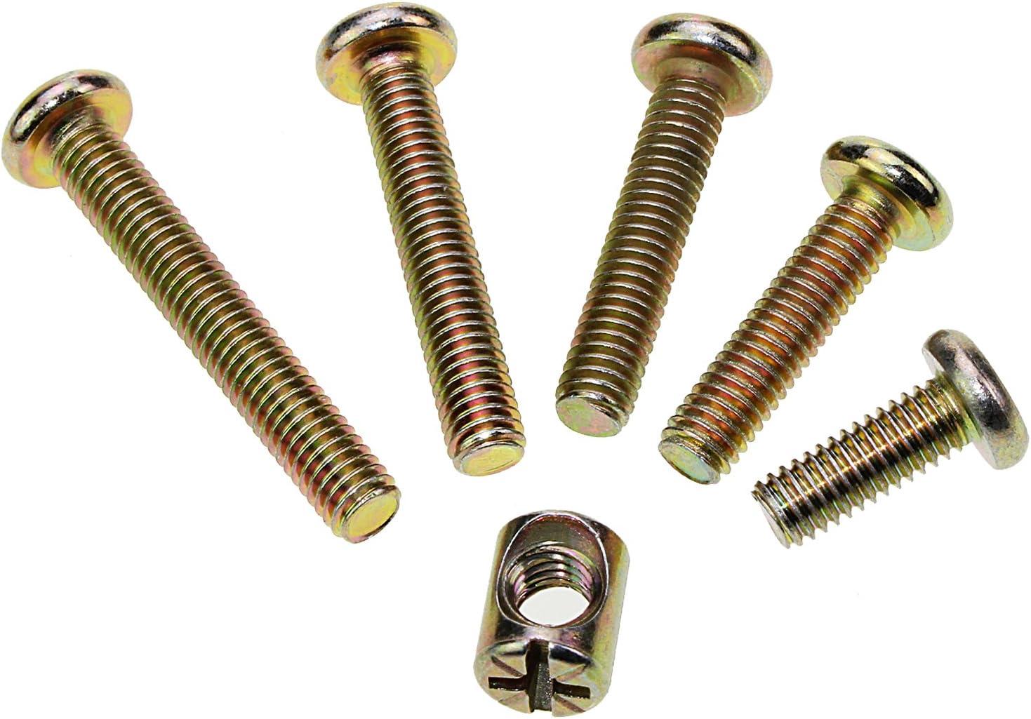 WiMas 100 PCS M6 x 15//25//30//35//40mm Zinc Plaqu/é Meubles Baril Vis Hex Drive Socket Cap Bolt /Écrous Assortiment Kit