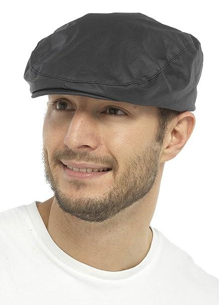 Gorra estilo boina para hombre con forro de cuadros escoceses 72aa5b8b048