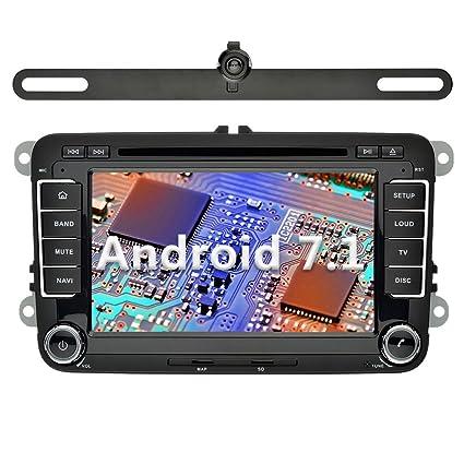 YINUO 7 Pulgadas 2 Din Radio GPS Android 7.1.1 Nougat 2GB RAM Quad Core