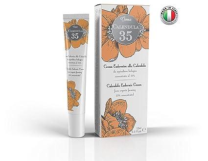 Calendula 35 - Crema eudérmica - LA MÁS CONCENTRADA - Específica para quemaduras, eritemas, psoriasis y cuidado de la piel - Con pantenol y vitamina F - 15 ...