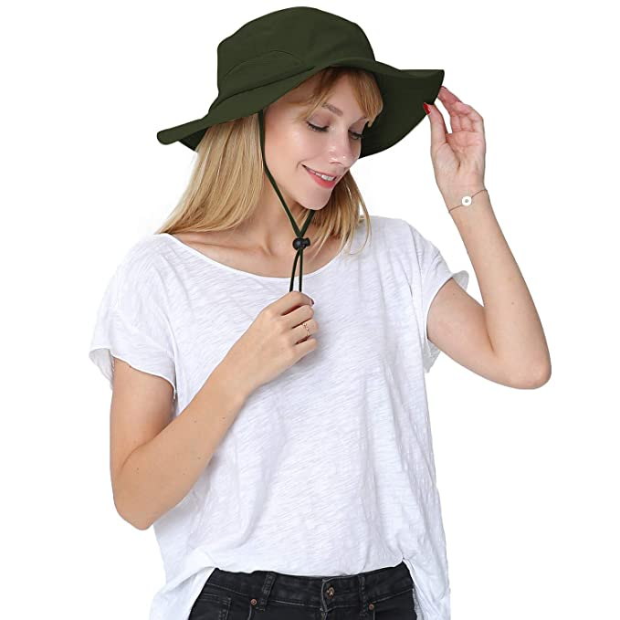 021067f9cc4 Outdoor Wide Brim Boonie Sun Cap for Men Women Military Bucket Hat for  Sports   Travel