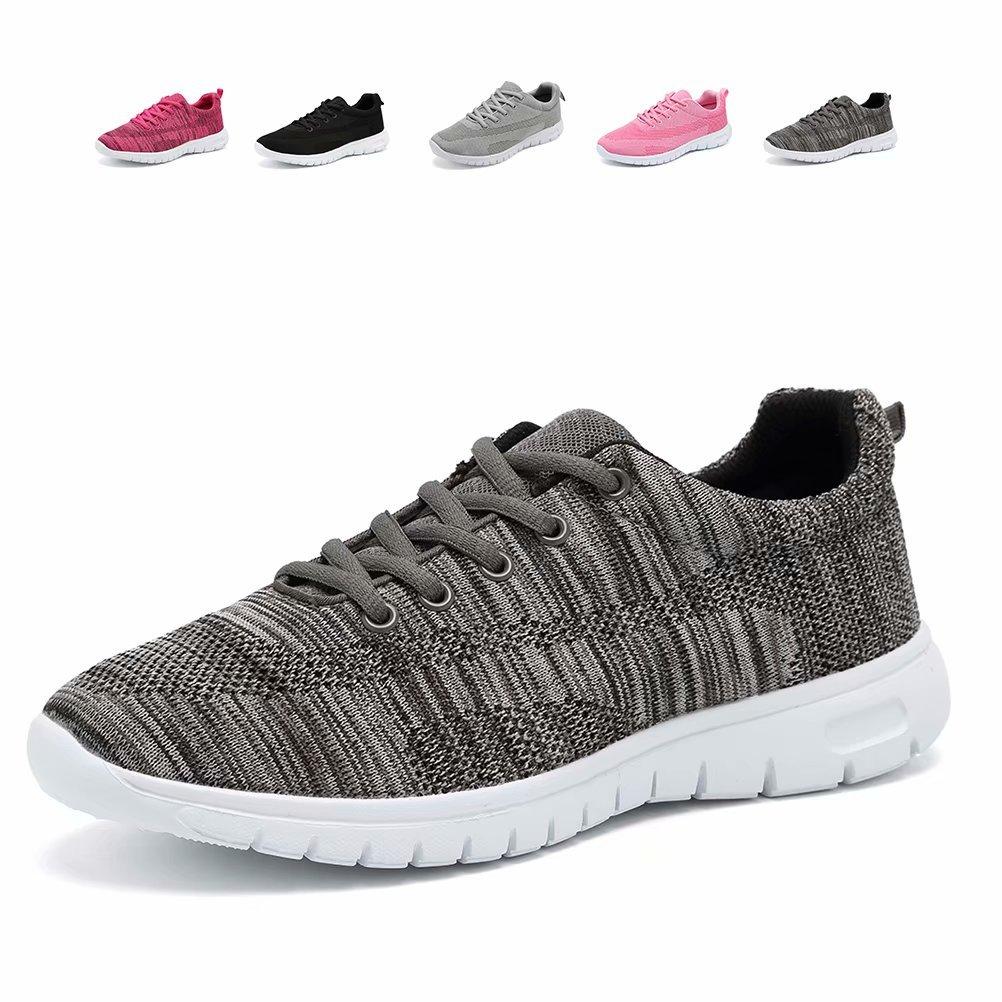 CIOR Men's Women's Running Shoes Fashion Sport Lightweight Walking Sneakers,WPS,Gray,43