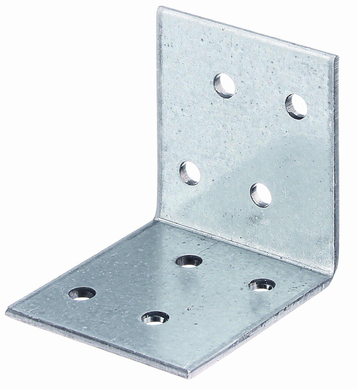 sendzimirverzinkt Gro/ßpack 50 x 50 x 40 mm // 50 St/ück GAH-Alberts 333515 Winkelverbinder