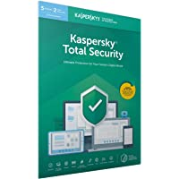 Kaspersky Total Security 2020 | 5 Devices | 2 Years | Antivirus, Secure VPN and Password Manager Included | PC/Mac/Android | Activation Code by Post