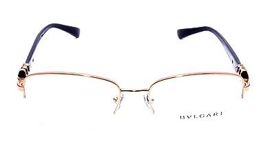 New Bvlgari BV 2162B 376  Rose Gold Black Frame Men Women Rectangular Metal  Eyeglasses 35e180d2322