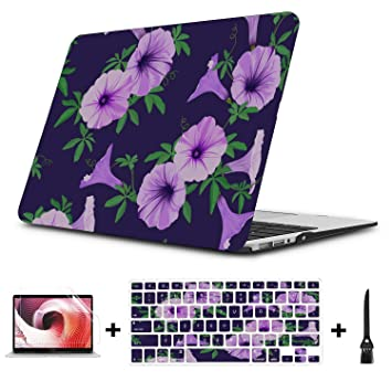 Fundas para Mac Purple Spring Retro Morning Glory Carcasa ...