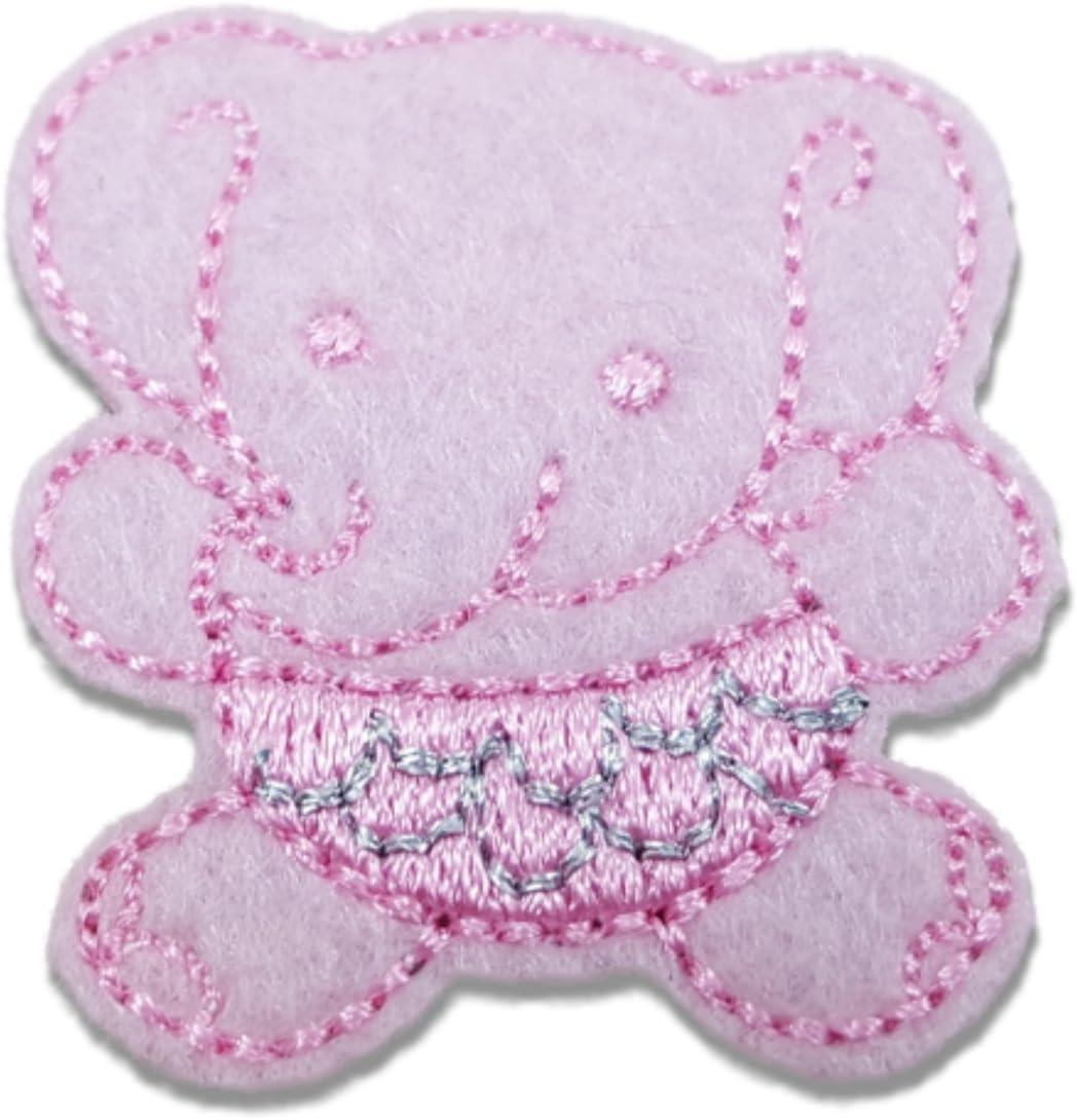 purple flower 7cm children glue on Sew on Applique Motif Patch trim