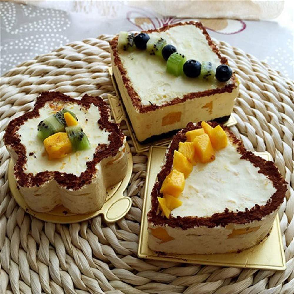 X-BLTU 200Pz//Set Mini Cake Boards Vassoio Carta USA e Getta Cup Cake Dessert Display Vassoio di Nozze Torta di Compleanno Decorazione Strumento