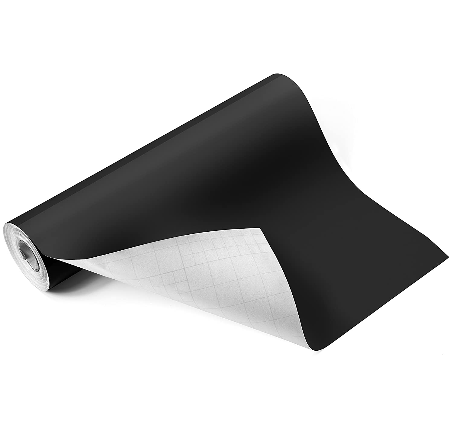 "Adhesive Glossy Black Vinyl Roll – HUGE Glossy Adhesive Permanent Black Vinyl Rolls – 12""x40FT Black Vinyl Sheets are The BEST Vynil – EZ Craft USA Black Vinyl Wrap Works with Cricut and Other Cutters Angelo Rosado"