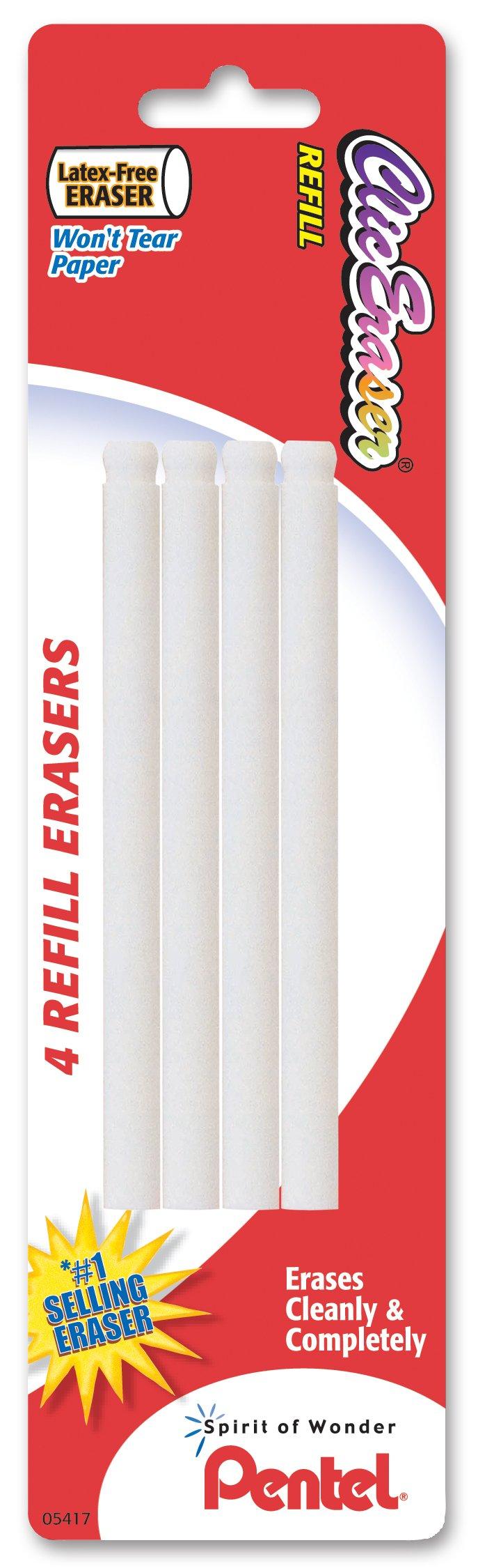 Pentel Refill Eraser for Clic Eraser, Pack of 4 (ZERBP4-K6)