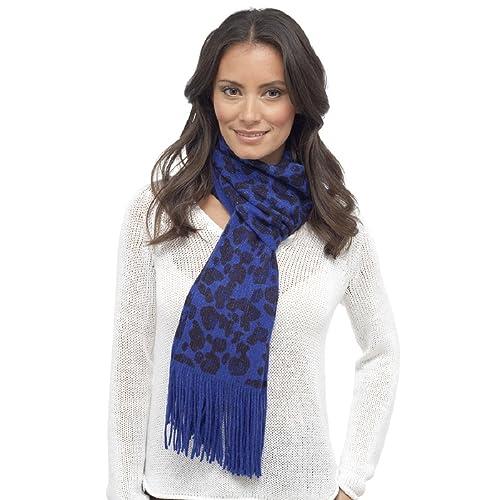 Rjm - Bufanda - para mujer azul azul Talla única
