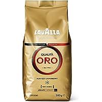 Lavazza Café en Grano Espresso Qualità Oro, 100% Arábica, Paquete de 4 x 500 g (Total: 2 kg)