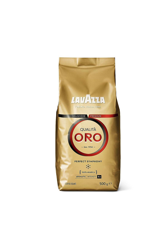 Lavazza Café en Grano Espresso Qualità Oro, 100% Arábica, Paquete ...