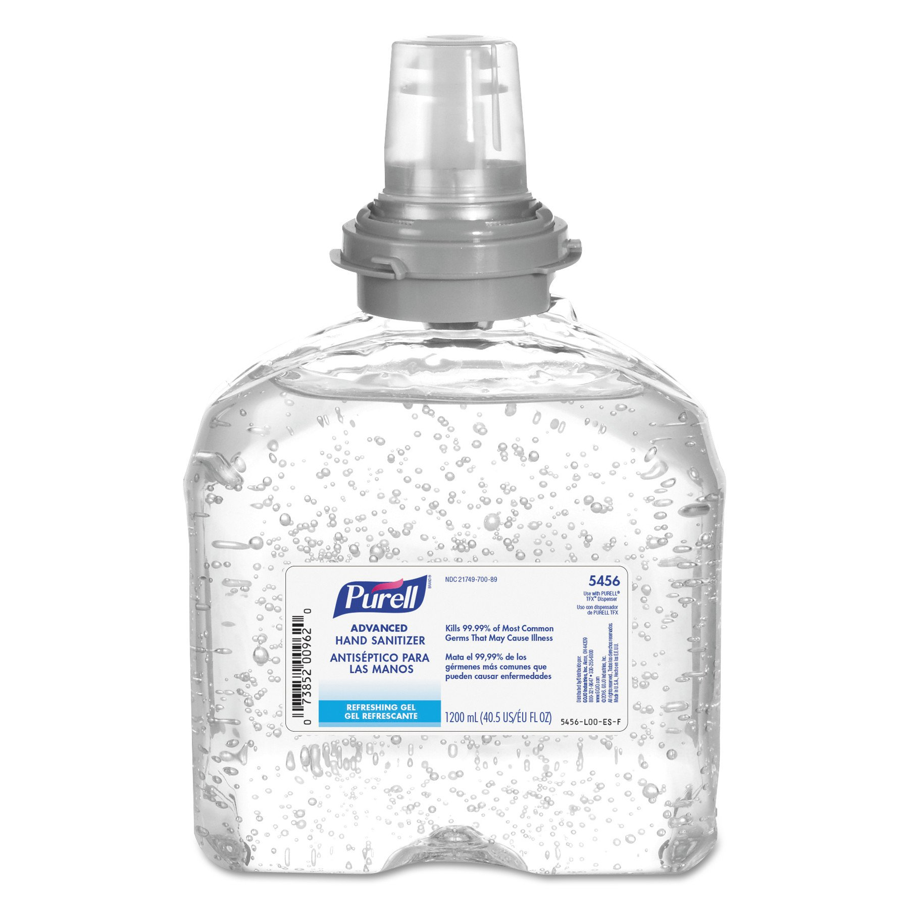 Purell TFX Refill, 5456-04 - Advanced Gel Hand Sanitizer (1200 mL)