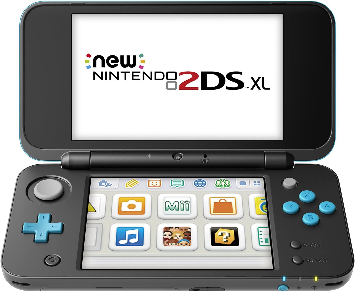 Amazon Com Nintendo New 2ds Xl Black Turquoise Nintendo 2ds