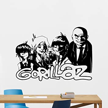 Gorillaz decal alternative music band wall vinyl sticker music studio decal rock wall art design housewares