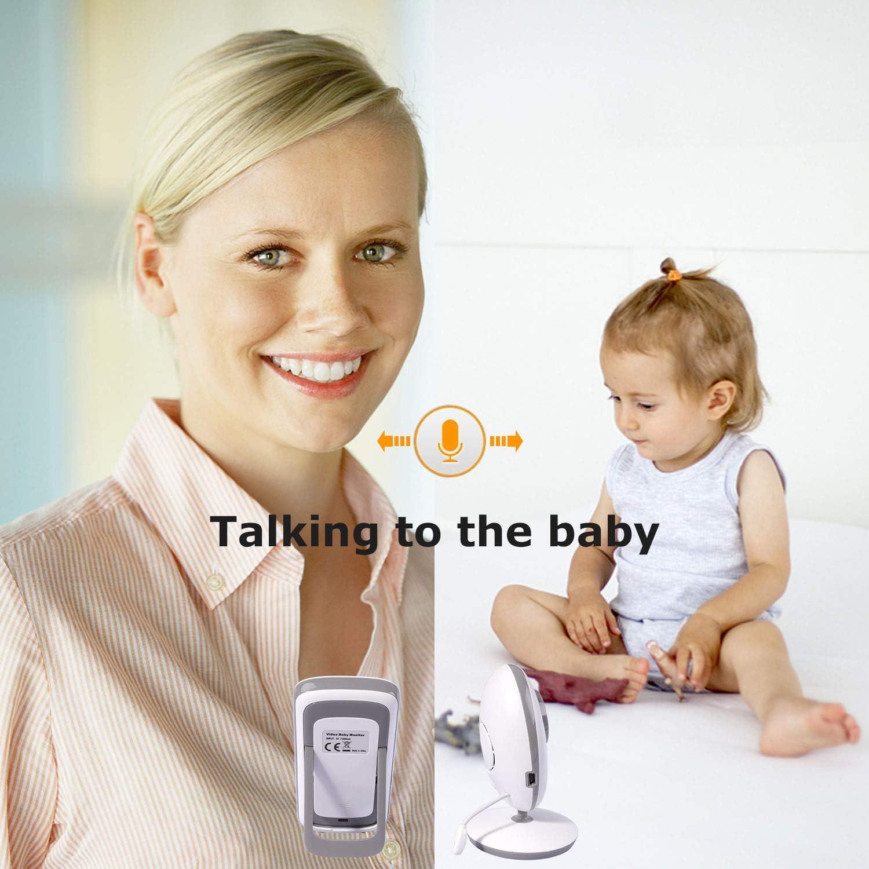 VB605 RCB Vigilabeb/és Inalambrico Beb/é Monitor C/ámara Digital Inal/ámbrico Monitor de beb/é Canci/ón de Cuna Pantalla LCD Conversaci/ón Bidireccional