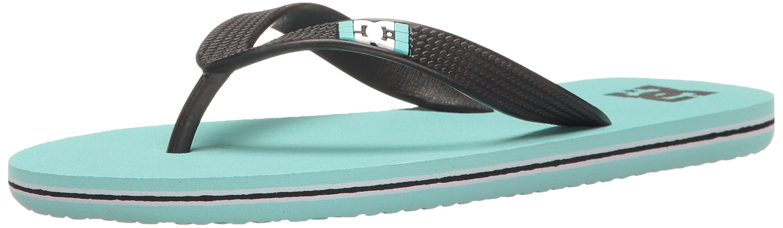 DC Girls' Spray Flip Flop, Turquoise, 6 M US Little Kid