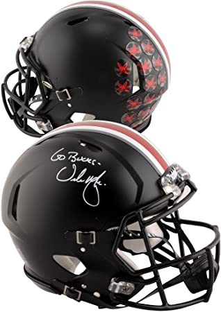 8787f6732fb Urban Meyer Ohio State Buckeyes Autographed Riddell Black Speed Pro-Line  Helmet with 'Go
