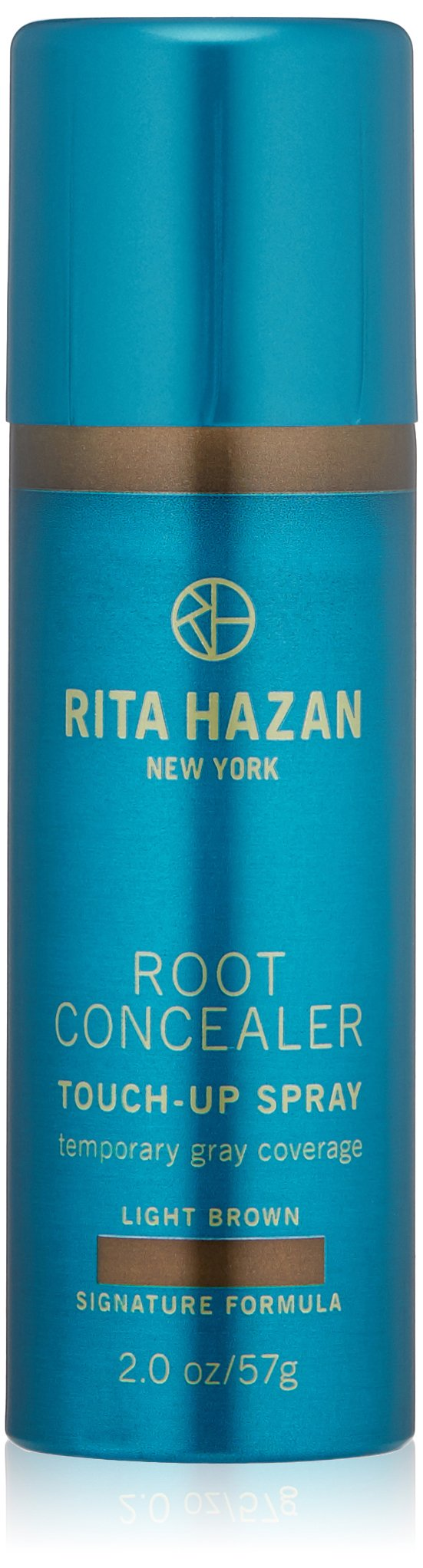 Root Concealer-Rita Hazan- Touch Up Spray-Light Brown Cover Up Gray 2oz