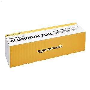 "AmazonCommercial Heavy Duty Aluminum Foil, 12"" X 500'"