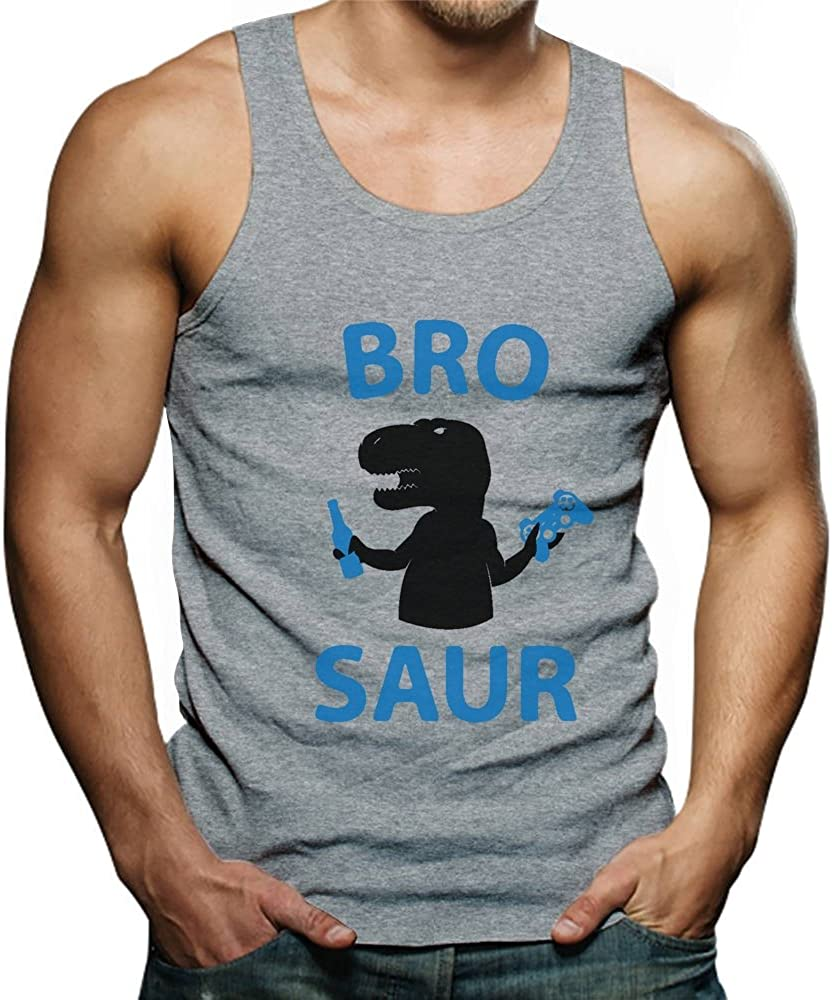 BRO Saur TeeStars Gift for Brother Funny Cool T-Rex Singlet