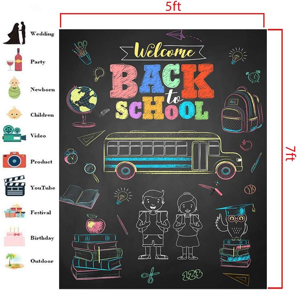 Amazon.com: Telón de fondo para escuela de 5 x 7 pies ...