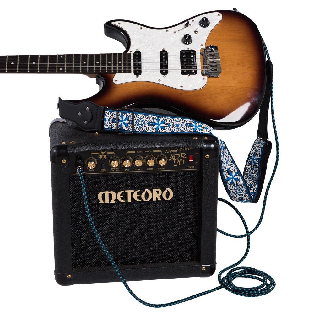 Noir C/âble pour Instrument Mono M/âle Coud/é 1//4 Inch Tweed Tiss/é 6.35mm Rayzm C/âble Tress/é Blind/é 5 m/ètres pour Guitare// Guitare Basse