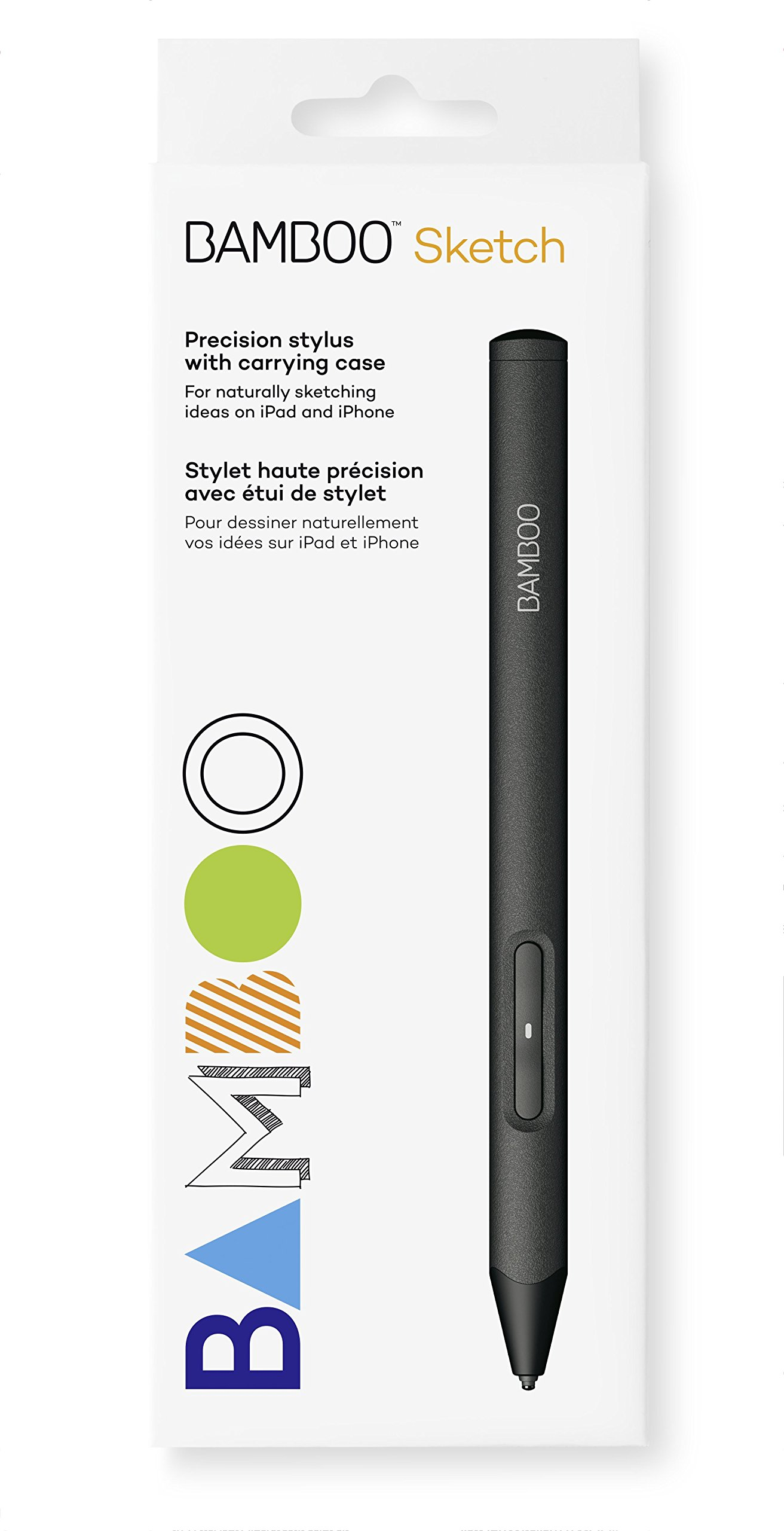 Wacom CS610PK Bamboo Sketch, CS-610PK (fine tip stylus by, Natural sketching on iPad and iPhone), black by Wacom